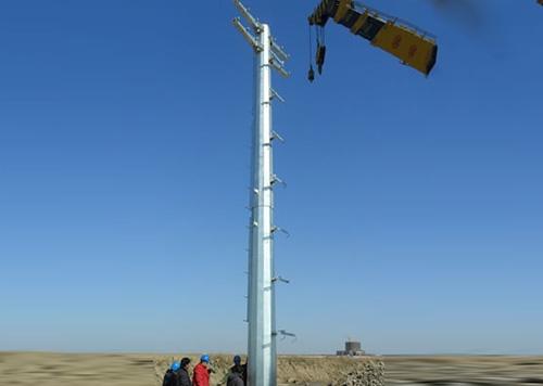 直线电力钢管杆